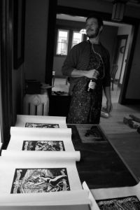 With Wild Turkey and Beer Woodcuts